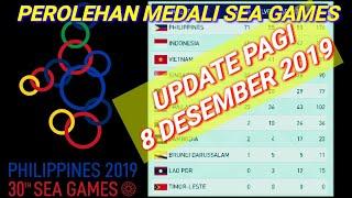 Gambar cover Update perolehan medali terbaru sea games pagi 8 desember 2019!klasemen medali sea games 8 desember