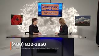 Elisa Krcilek, with MV Funeral Home appears on Networking Arizona TV Show 4