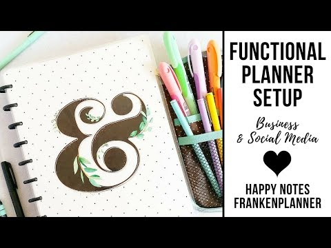 Planner Peace With Happy Notes | Business and Social Media Planner | Functional Discbound System