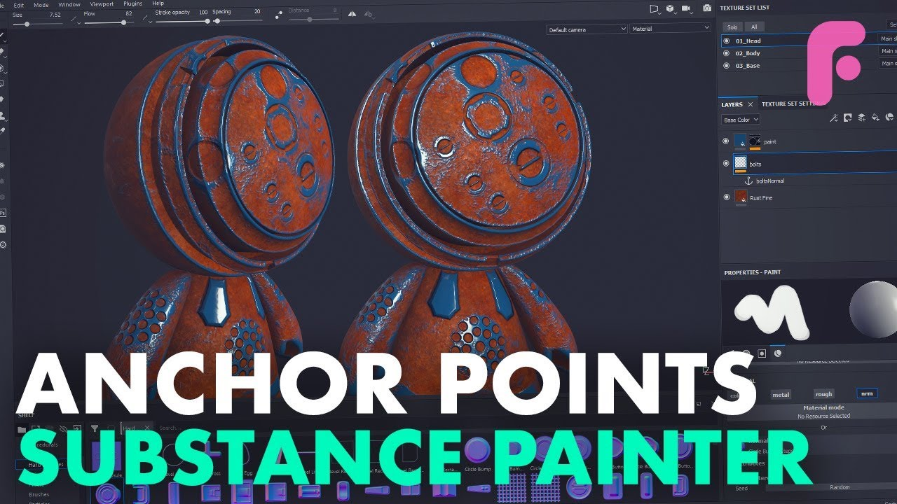 Using Normal Maps and Anchor Points in Substance Painter