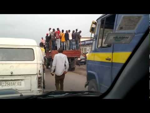 The ride to the airport - Kinshasa, DRC