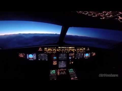 Pilot's night shift - Berlin to Copenhagen - Airbus A320 - HD