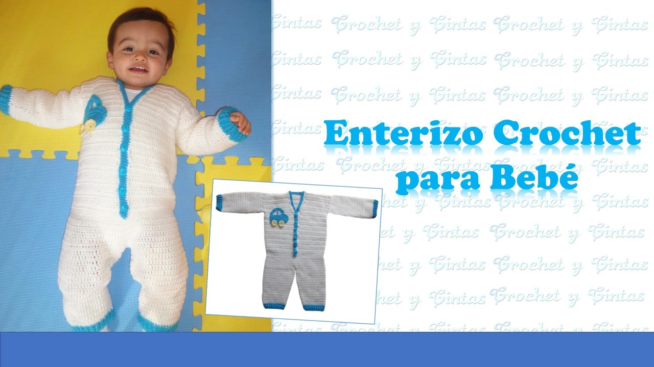 Enterizo Crochet para Bebés - YouTube
