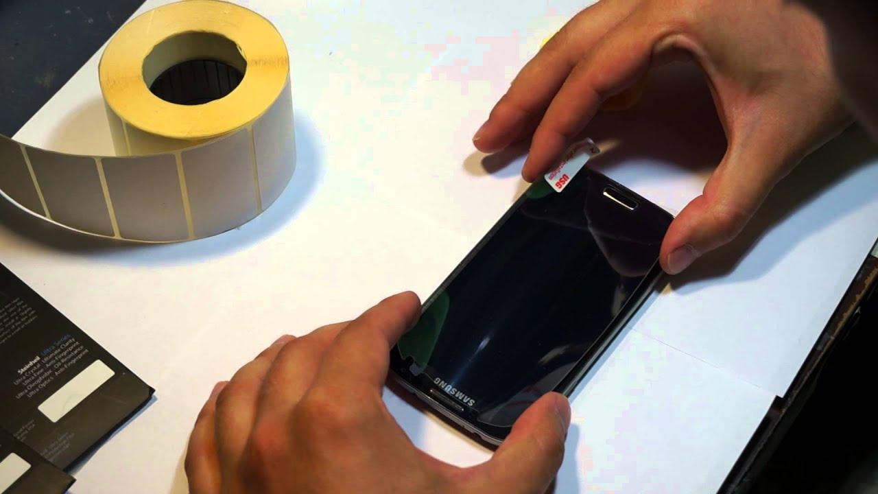 aa096f872f3e Как наклеить и выбрать лучшую пленку для Samsung Galaxy S4 - YouTube