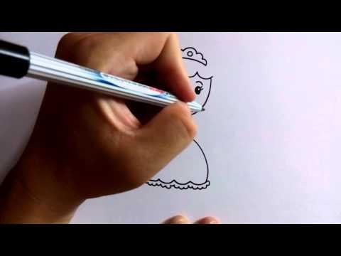 วาดการ์ตูนกันเถอะ สอนวาดการ์ตูน เจ้าหญิง ง่ายๆ หัดวาดตามได้เลย