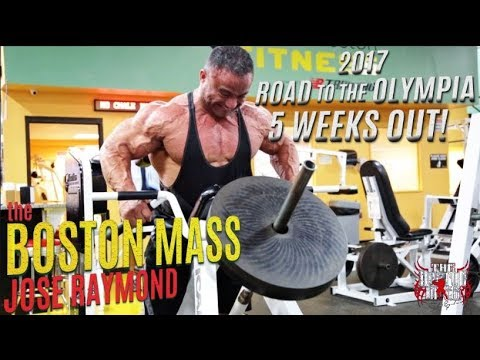 JOSE RAYMOND 2017 OLYMPIA PREP - BACK DAY 5 WEEKS OUT!