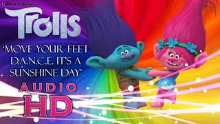 Move Your Feet D.A.N.C.E. It's a Sunshine Day - Whole Cast - Trolls - HD