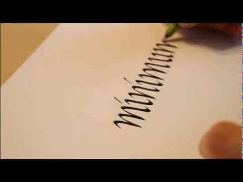 How To Start Writing Calligraphy Writing 39 Minimum 39 In