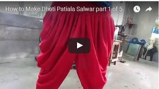 How to Make Dhoti Patiala Salwar part 1