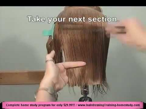 FREE HAIRDRESSING LESSON - HairdressingTraining-homestudy.com  - Women's straight cut