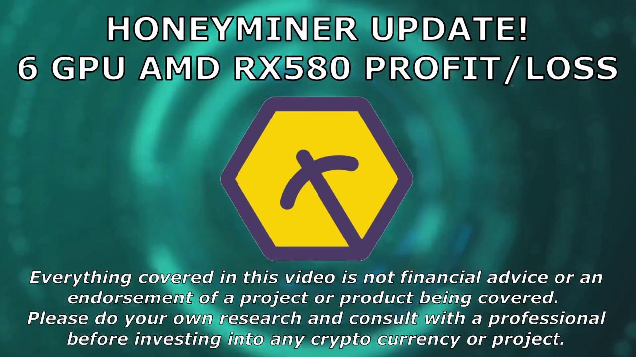 Honeyminer Mining Update, 6 GPU AMD RX580 Profit/Loss (Honey Miner)
