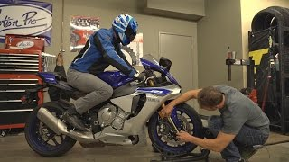 How To Check Motorcycle Suspension Sag   MC Garage