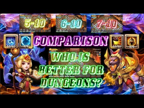 ESPIRITA SKILL 12 VS ANUBIS SKILL 12 COMPARISON - Castle Clash