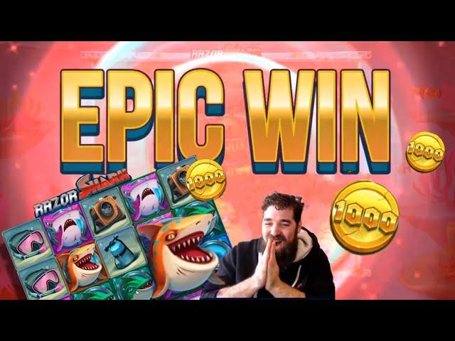 RAZOR SHARK X1000 EPIC WIN!