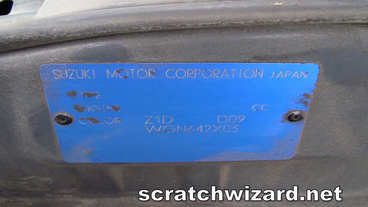 How to find your Suzuki paint code. - YouTube