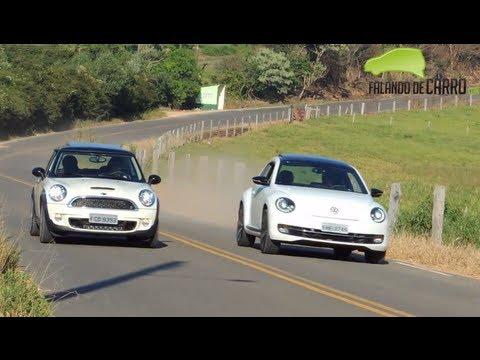Teste - MINI Cooper S vs Volkswagen Fusca 2013 - Falando de Carro