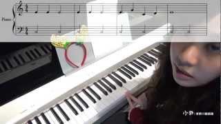 [音樂]聖誕鈴聲 X'mas Jingle Bells-鋼琴彈奏教學(小尹老師的聯絡簿 7 )