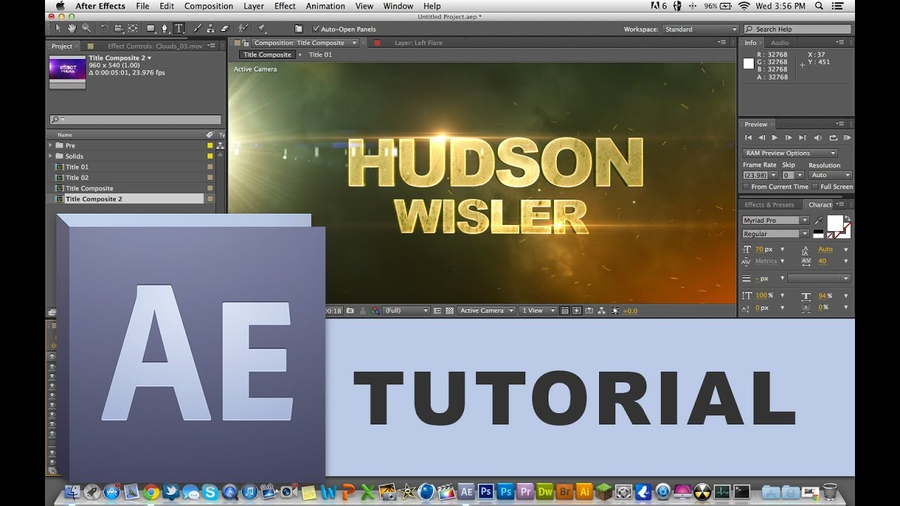How To Edit TEMPLATES In Adobe After Effects Beginner Tutorial - Adobe after effects title templates