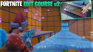 Aim + Build + Edit Training Practice Map w/ Keyboard cam (Fortnite creative warm-up)