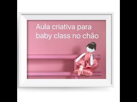 Aula criativa para Baby Class no chão
