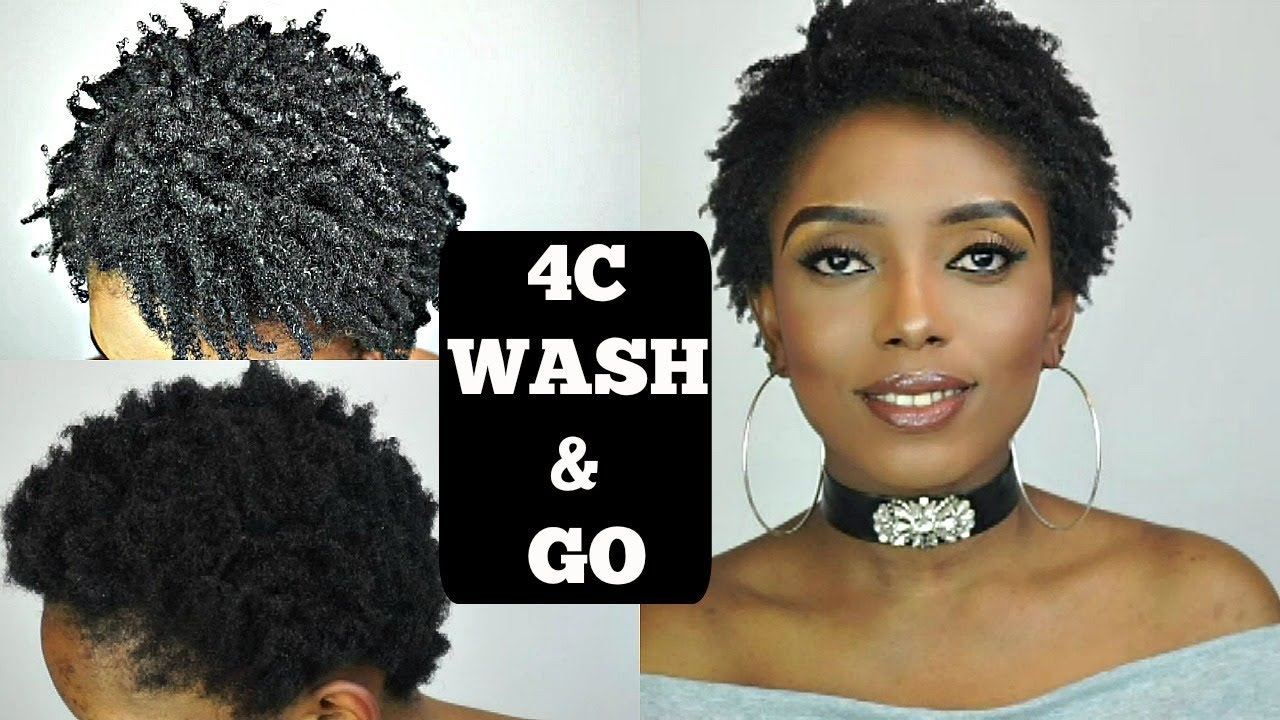 updated 4c wash & go for short natural hair tutorial 2018