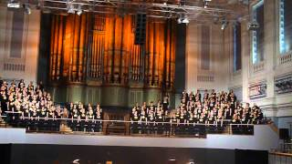 Rock Choirs sing Fall at Your Feet at Birmingham Town Hall on 05/04/15