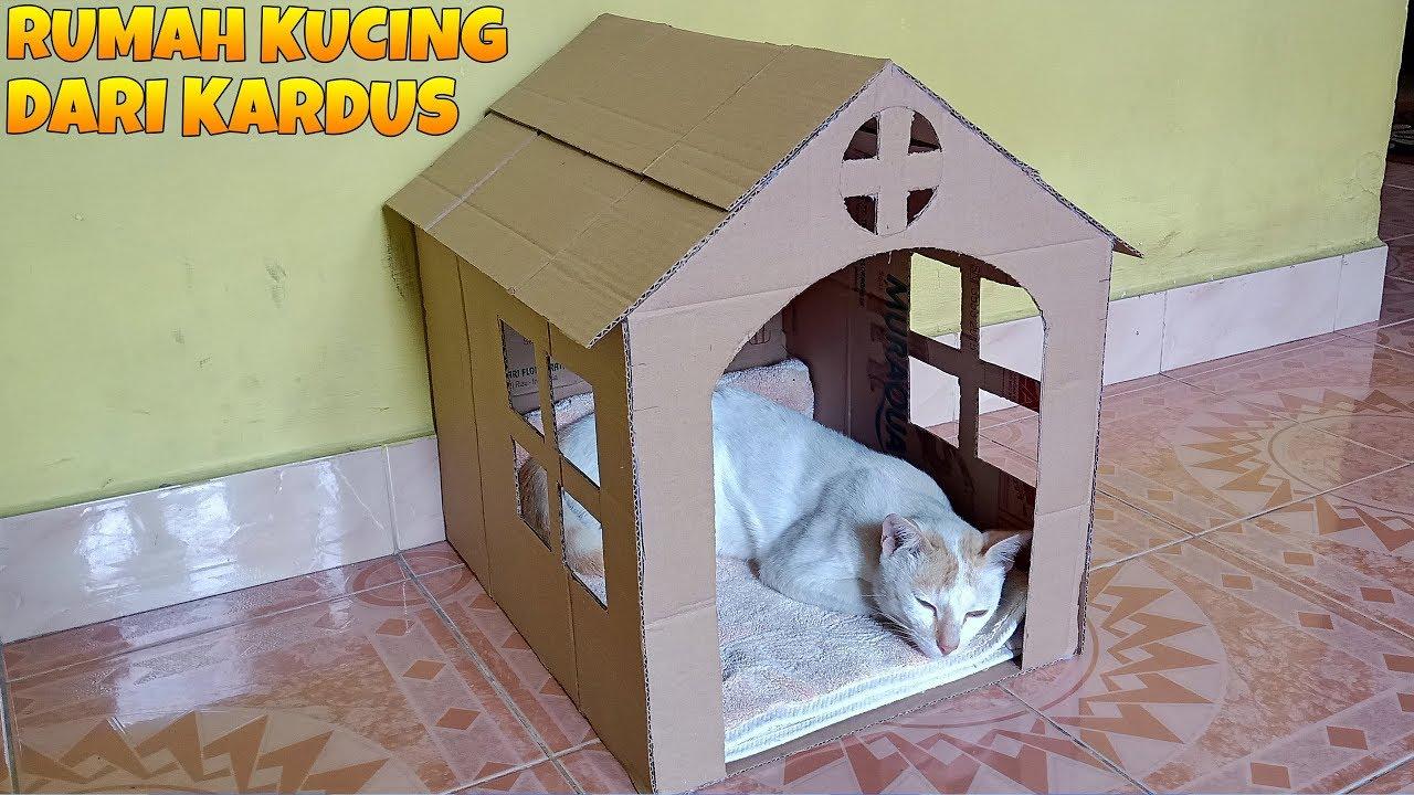 Cara Membuat Rumah Kucing Dari Kardus Bekas Kerajinan Tangan