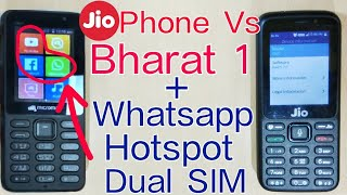 Jio Phone Vs Micromax Bharat 1 | Hotspot, Whatsapp, Camera & Features Comparison | Review | In Hindi