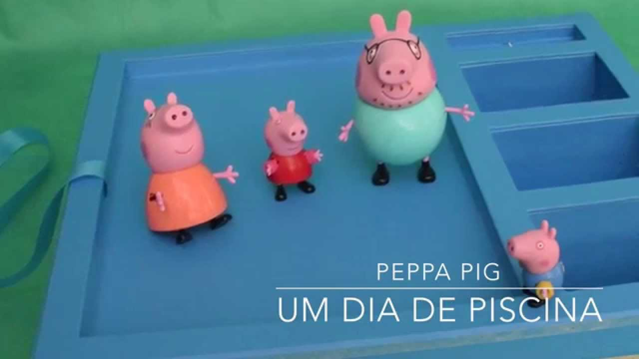 Peppa pig portugu s um dia de piscina infantil youtube for Piscina de peppa pig
