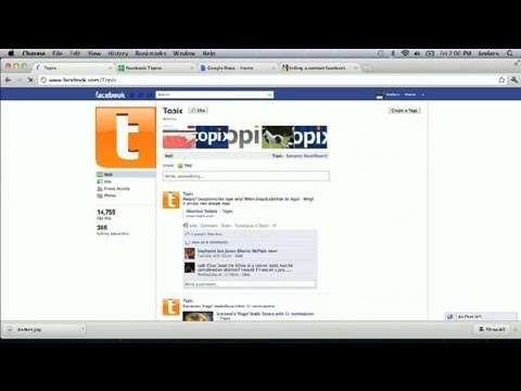 How to Get on Topix on Facebook : Facebook Basics