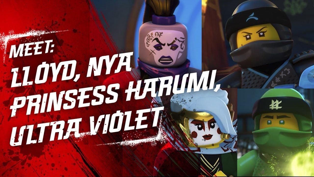 Meet Lloyd Princess Harumi Nya And Ultra Violet Lego Ninjago
