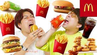 【大食い】最後の1人になるまで無限にマクドナルドを食べ続けた人が勝ち!!