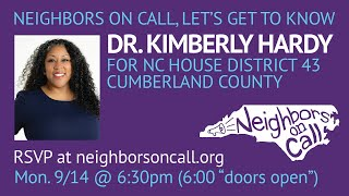 Dr. Kimberly Hardy for NC HD 43 9/14/20