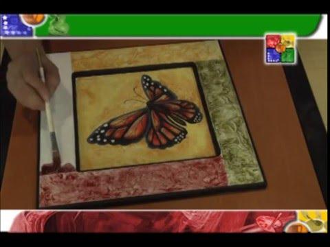 MARIPOSA EN TEXTURA - MANOS CREATIVAS - YouTube