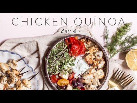 Easy & Healthy CHICKEN QUINOA Grain Bowl �� DAY 4 | HONEYSUCKLE
