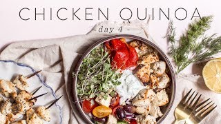 Easy & Healthy CHICKEN QUINOA Grain Bowl 🐝 DAY 4