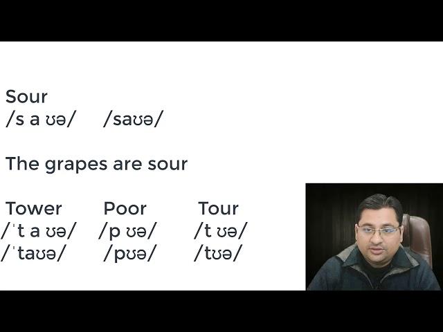 The grapes are sour (sour pronunciation)