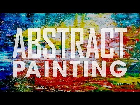 How To Make /Abstract/ Brush and Palette knife /Acrylic Abstract Painting Tutorial/ #15