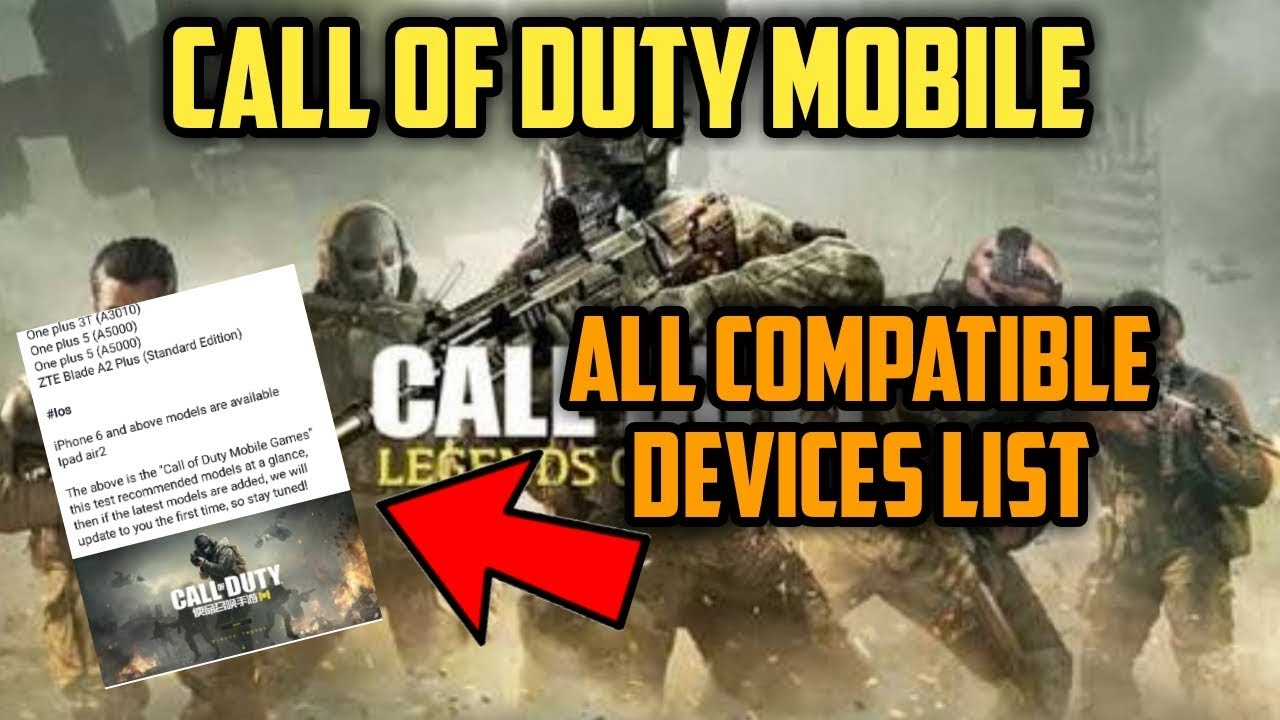 Image result for call of duty mobile compatible devices