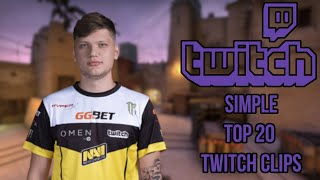 Simple Top 20 Twitch Clips CS GO