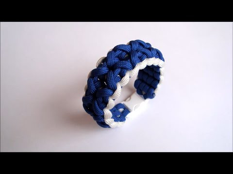 """How to make """"Clove and Dagger"""" paracord bracelet with side release buckle"""