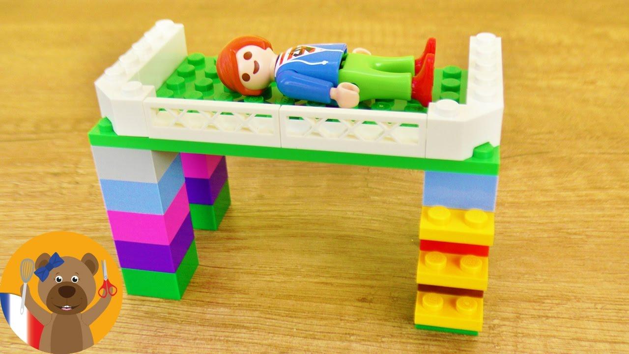 Comment Faire Un Lit Soi Meme lego minecraft lit en hauteur pour julian brie | super lit pour personnage  à faire soi-même