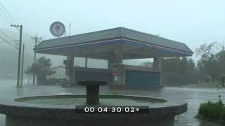 Typhoon Morakot Flying Debris Extreme Weather Stock Footage Screener HDV 50i thumbnail