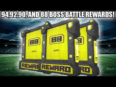 94, 92, 90, AND 88 OVERALL BOSS BATTLE REWARDS! | MADDEN 18 ULTIMATE TEAM
