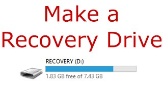 Creating a Recovery Drive in Windows 8.1