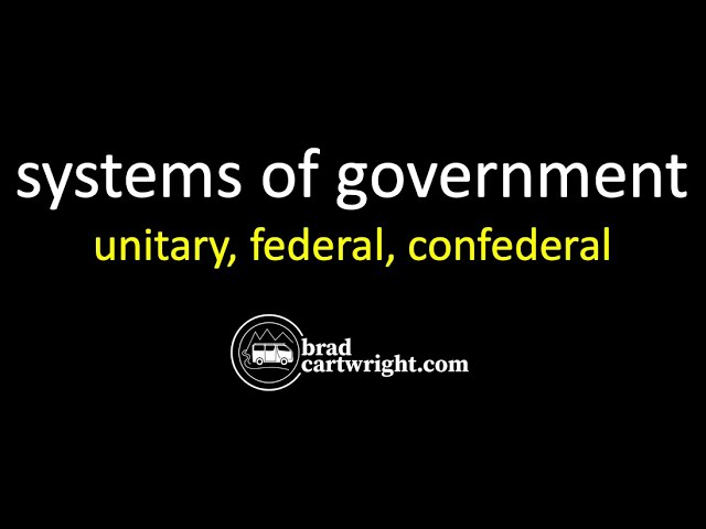 difference between federal and unitary government in tabular form
