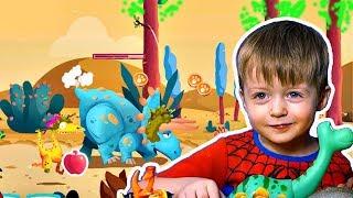Игра про Динозавров для Детей Защищаем Яйцо от Траглодитов #3  Мультик про Динозавров Lion boy