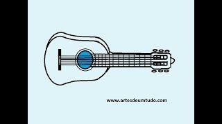 Como Desenhar Violão