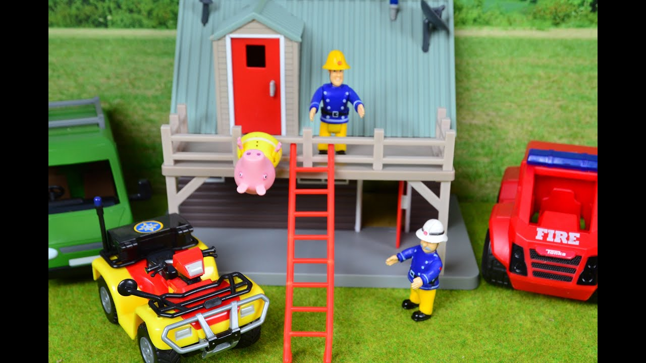 peppa pig rescue episode fireman sam to the rescue