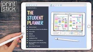 Digital Student Planner | Print Stick Planner Bundle | GoodNotes